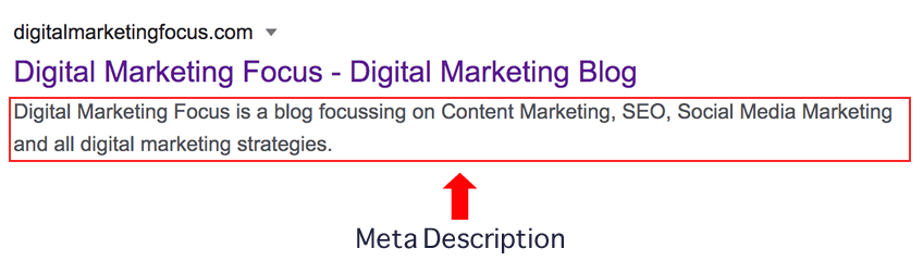 meta description example for SEO Copywriting